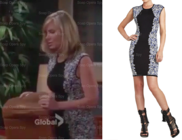 The Young And The Restless Fashion Get Ashley Abbott 39 S Elena Foliage Jacquard Dress Eileen
