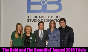 'The Bold and The Beautiful' August 2015 Trivia: How Well Do You Know B&B?
