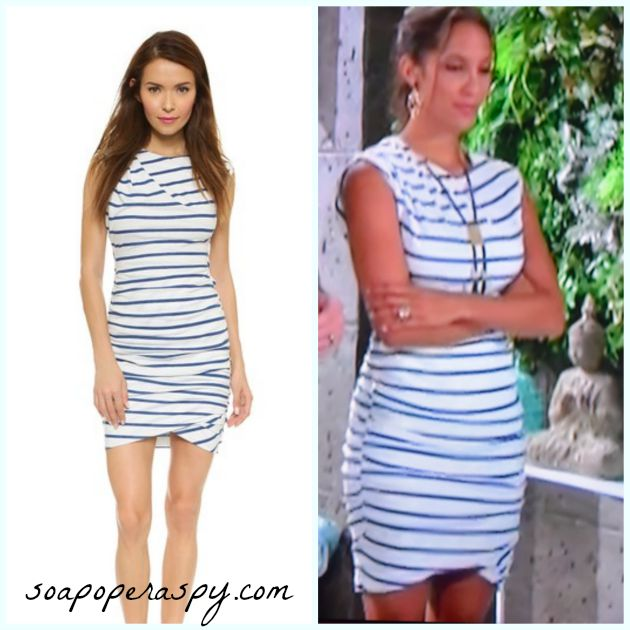 39 The Young And The Restless 39 Fashion Get Lily Winters 39 Striped Dress For Less Christel Khalil