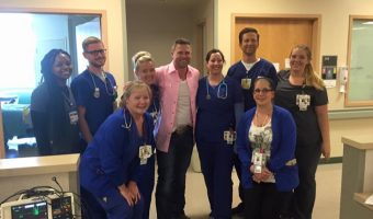 The Bold and the Beautiful Star Jacob Young Brought Music, Joy and Smiles To Union Hospital