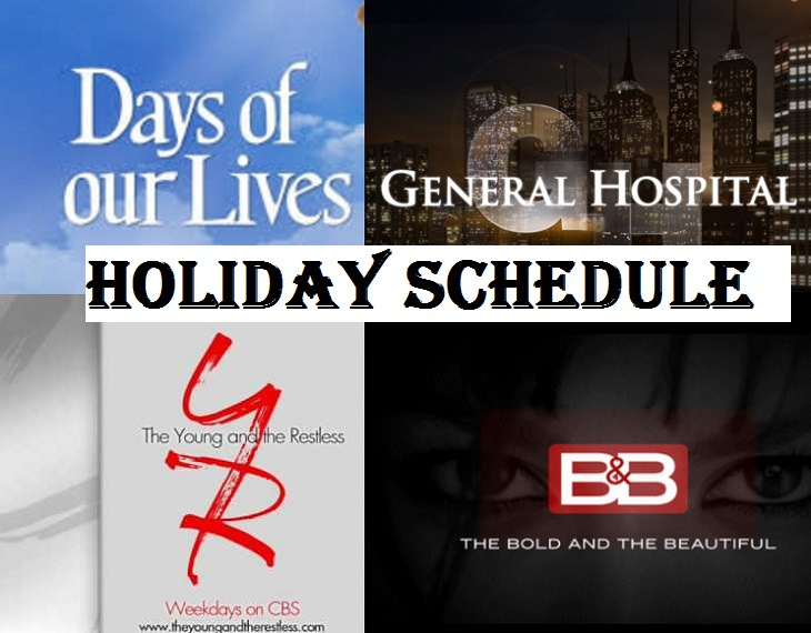 Soap Opera Christmas Pre=Emptions 2021 Soap Opera News Y R Bold Days And Gh Holiday Schedule And Thanksgiving Pre Emptions