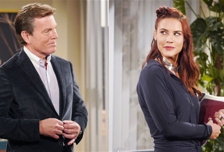 The Young And The Restless; jack Abbott (Peter Bergman). Sally Spectra (Courtney Hope)