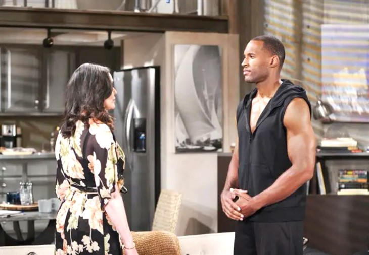 The Bold And The Beautiful: Carter (Lawrence Saint-Victor) Quinn (Rena Sofer)